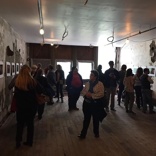 Checking out the Petrie Building and seeing what else has been done since I was here last in February. On the walls are photos by Hans Zegerius, who's been chronically the renovations from the beginning.